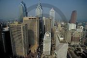 Philadelphia Skyline, City Center Hi-rises before Comcast Building