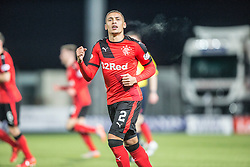 Rangers James Tavernier.<br /> Falkirk 3 v 2 Rangers, Scottish Championship game player at The Falkirk Stadium, 18/3/2016.