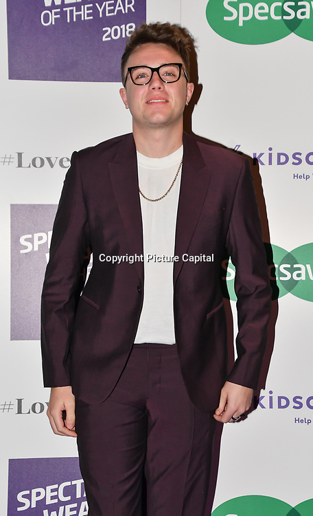 Roman Kemp attend Spectacle Wearer of the Year 2018 at 8 Northumberland avenue, on 23 October 2018, London, UK.