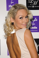 Kristina Rihanoff at Style for Stroke - launch party held at No. 5 Cavendish Square, London, England, October 2, 2012. Photo by Chris Joseph / i-Images.