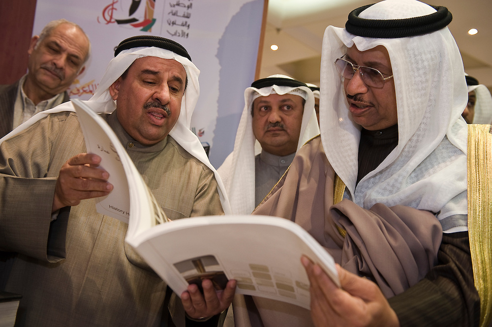 His Highness Sheikh Jaber Mubarak Al-Sabah, the Prime Minister,  is briefed on Jan. 25 during his inspection of the elections media center in Kuwait City. More than 400,000 Kuwaiti men and women are eligible to vote in the Feb. 2, 2012 parliamentary elections  to elect a new 50-member National Assembly (parliament).