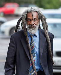 © Licensed to London News Pictures.  14/08/2017; Taunton, Somerset, UK. Picture of JUDAH ADUNBI, who was tasered by Avon and Somerset PC Claire Boddie, age 47, at Taunton Magistrates Court. PC Boddie is charged with common assault after Avon and Somerset race relations group founder Judah Adunbi, 63, was Tasered in Bristol on 14 January. Mr Adunbi, who was Tasered in Colston Road, Easton, is the founding member of an independent group between the police and prominent members of the African-Caribbean community. Picture credit : Simon Chapman/LNP