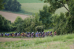 Peloton approach at Boels Rental Ladies Tour Stage 5 a 141.8 km road race from Stamproy to Vaals, Netherlands on September 2, 2017. (Photo by Sean Robinson/Velofocus)
