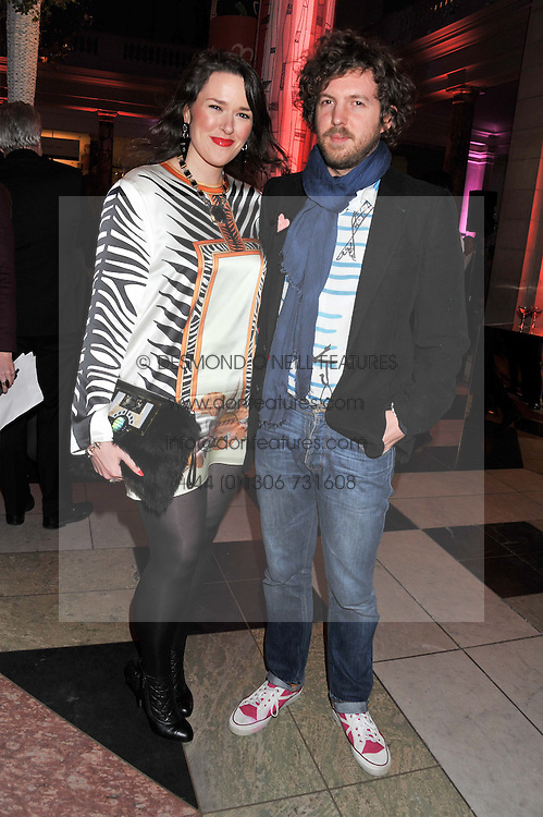 JAMES LAMBERT and HOLLY FULTON at a private view of Ballgowns: British Glamour Since 1950 at the V&A museum, London on 15th May 2012.