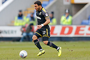 AFC Wimbledon midfielder Andy Barcham (17) runs with the ball during the EFL Sky Bet League 1 match between Shrewsbury Town and AFC Wimbledon at Greenhous Meadow, Shrewsbury, England on 24 March 2018. Picture by Simon Davies.