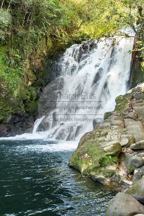 The upper Cascada de Texolo waterfall near Xico, Veracruz, Mexico. The remote jungle area was used in filming the movie Romancing the Stone.