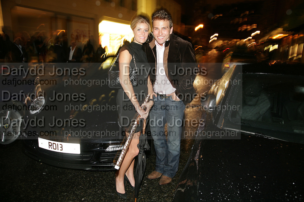 JANNIKE AKERLIND AND STEFAN BOOTH, De Grisogono &amp; Londino Car Rally  party. <br />Pal Zileri, Hans Crescent London, W1, 22 August. Launch of car rally which takes drivers through London, France, Switzerland and finally to Portofino .  -DO NOT ARCHIVE-&copy; Copyright Photograph by Dafydd Jones. 248 Clapham Rd. London SW9 0PZ. Tel 0207 820 0771. www.dafjones.com.