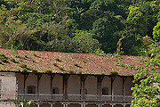 Spanish colonial customs building at Portobelo . Caribbean, Colon province, Panama, Central America.