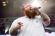 Action Bronson photographed performing at the Governors Ball Music Festival on Randalls Island in New  York City on June 3, 2016