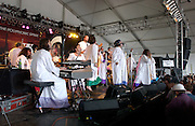 Polyphonic Spree, 2003 Bonnaroo Music Festival.Manchester, TN.Photo by Bryan Rinnert