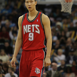 Jan 08, 2010; New Orleans, LA, USA; New Jersey Nets forward Yi Jianlian (9) on the court against the New Orleans Hornets during the second half at the New Orleans Arena. The Hornets defeated the Nets 103-99. Mandatory Credit: Derick E. Hingle-US PRESSWIRE.