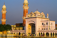 The grounds of the Golden Temple (holiest Sikh shrine), Amritsar, Punjab, India