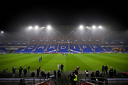 CARDIFF, WALES - Thursday, November 15, 2018: Denmark players during a training session at the Cardiff City Stadium ahead of the UEFA Nations League Group Stage League B Group 4 match between Wales and Denmark. (Pic by David Rawcliffe/Propaganda)