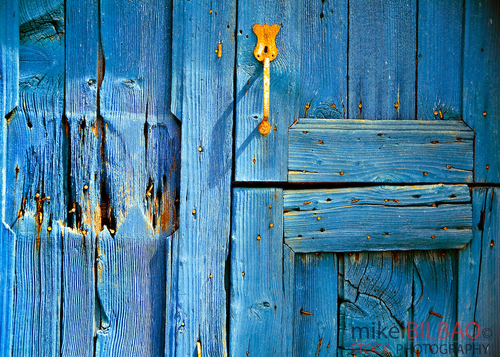 door detail.<br /> Ano Sagri village. Naxos island, Greece, Europe