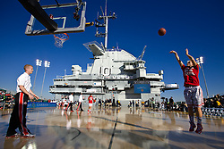 Ohio State plays Notre Dame during the 2nd annual Carrier Classic Friday, Nov. 9, 2012 on the deck of the USS Yorktown in Mount Pleasant, SC. Paul Zoeller/Special to the Post and Courier