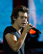 One Direction's Harry Styles in concert at Vector Arena, Auckland, New Zealand, Saturday, October 12, 2013. Photo: David Rowland/Photosport