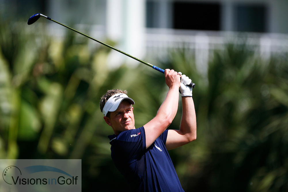 Luke Donald at the CA WGC Championship 2010, Doral, Miami, USA.  March 2010.<br /> Picture Credit: Mark Newcombe / visionsingolf.com