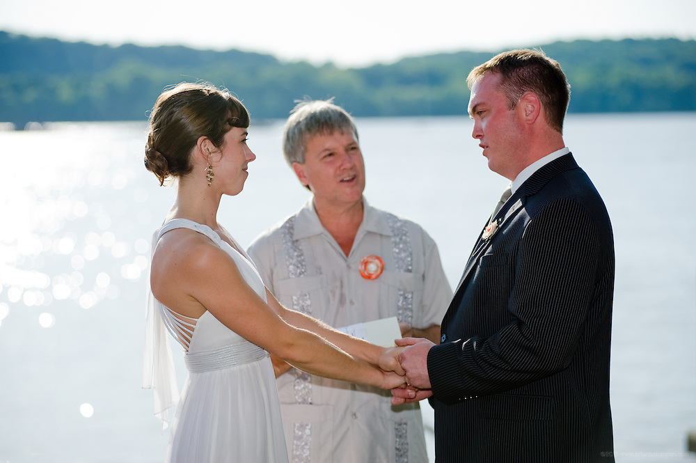 The wedding of Annie and Mike, Saturday, June 6, 2009 at the groom's family home on Belknap Beach in Prospect, Ky., on the Ohio River. (Photo by Brian Bohannon)