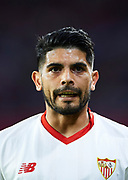 SEVILLE, SPAIN - AUGUST 10:  Ever Banega of Sevilla FC looks on during a Pre Season Friendly match between Sevilla FC and AS Roma at Estadio Ramon Sanchez Pizjuan on August 10, 2017 in Seville, Spain.  (Photo by Aitor Alcalde/Getty Images)