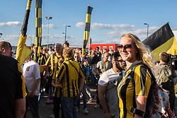 Vitesse Arnhem fans arrive at St Mary's Stadium - Mandatory by-line: Jason Brown/JMP - Mobile 07966386802 - 31/07/2015 - SPORT - FOOTBALL - Southampton, St Mary's Stadium - Southampton v Vitesse Arnhem - Europa League