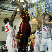 Canton Charge Forward Shane Edwards (33) attempts to dunk the ball in the second half of a NBA D-league regular season basketball game between the Delaware 87ers (76ers) and The Canton Charge (Cleveland Cavaliers) Friday, Jan 24, 2014 at The Bob Carpenter Sports Convocation Center, Newark, DEL.