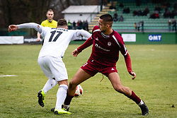 Amadej Marosa of NS Mura and David Tijanic of NK Triglav Kranj during football match between NŠ Mura and NK Triglav in 19th Round of Prva liga Telekom Slovenije 2018/19, on December 9, 2018 in Fazanerija, Murska Sobota, Slovenia. Photo by Blaž Weindorfer / Sportida