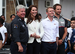 The Duchess of Cambridge attending the 1851 Trust charity's final Land Rover BAR Roadshow at Docklands Sailing and Watersports Centre in London.