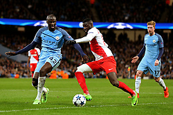 Tiemoue Bakayoko of Monaco and Yaya Toure of Manchester City - Mandatory by-line: Matt McNulty/JMP - 21/02/2017 - FOOTBALL - Etihad Stadium - Manchester, England - Manchester City v AS Monaco - UEFA Champions League - Round of 16 First Leg