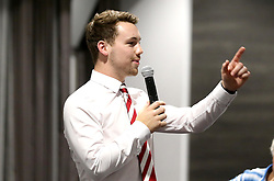 Organiser of the City Foundation Quiz night Billy Bond speaks at the end of the night - Mandatory by-line: Robbie Stephenson/JMP - 19/09/2016 - FOOTBALL - Ashton Gate - Bristol, England - Bristol City Community Trust Quiz