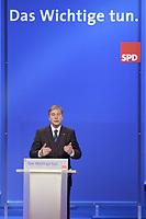 """17 NOV 2003, BOCHUM/GERMANY:<br /> Wolfgang Clement, SPD, Bundeswirtschaftsminister,haelt eine Rede, unter dem Parteitagsmotto """"Das Wichtige tun"""", SPD Bundesparteitag, Ruhr-Congress-Zentrum<br /> IMAGE: 20031117-01-056<br /> KEYWORDS: Parteitag, party congress, SPD-Bundesparteitag,"""
