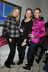 Left to right, PRISCILLA WATERS, NADYA ABELA and DEE STIRLING at a lunch hosted by Roger Vivier held at Bella Pollen's home, 5 Stanley Crescent , London on 29th January 2013.