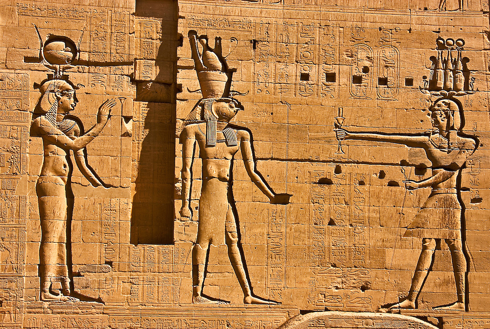 Isis, Horus, and Ptolemy at Edfu