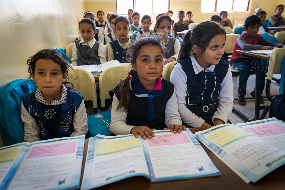 11 October &ndash; Ninewa Plains &ndash; Iraq &ndash; A class in session at Al Thibyania Primary School in Thibyania village in the Ninewa Plains. <br /> <br /> UNDP&rsquo;s Funding Facility for Stabilization is helping rehabilitate schools across the Ninewa Plains region to enable students to return to class. <br /> <br /> &copy; UNDP Iraq / Claire Thomas