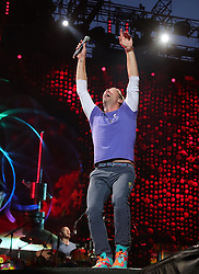 With a double sold out gig for Chris Martin and Coldplay in Milano's Meazza stadium (in total: 120.000 people) the british band confirm Italy as a favourite country. 03 Jul 2017 Pictured: Chris Martin. Photo credit: Bruno Marzi / MEGA TheMegaAgency.com +1 888 505 6342