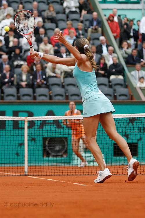 Roland Garros. Paris, France. May 27th 2008..Amelie MAURESMO against Olga SAVCHUK. .1st Round...