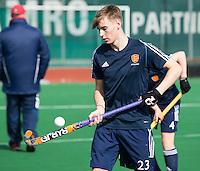ROTTERDAM -  Warming Up Netherlands. Max Denniff .  Practice Match  Hockey : Netherlands Boys U16  v England U16 . COPYRIGHT KOEN SUYK
