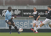 Dundee new boy Christian Nade - Falkirk v Dundee, SPFL Championship at <br /> Falkirk Stadium<br />  - &copy; David Young - www.davidyoungphoto.co.uk - email: davidyoungphoto@gmail.com