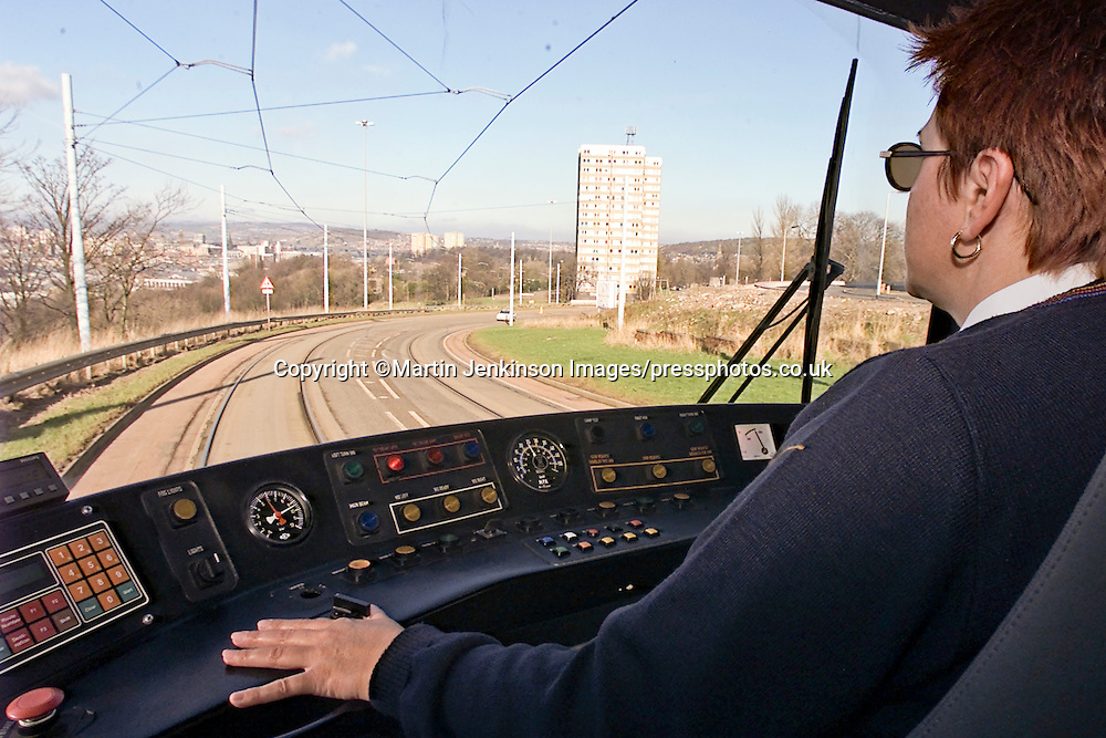 Supertram Driver Avril Webster.
