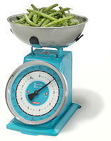 Typhoon Retro Revolution 8-Pound Spring Scale, silver and blue scale