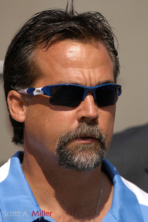 Oct. 14, 2007; Tampa, FL, USA; Tennessee Titans coach Jeff Fisher prior to the start of his team's game against the Tampa Bay Buccaneers at Raymond James Stadium. ...©2007 Scott A. Miller