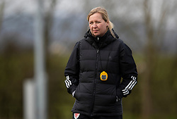 WREXHAM, WALES - Wednesday, March 4, 2020: Wales' national women's team manager Jayne Ludlow during a training session at Colliers Park ahead of the International Friendly match between Wales Women and Estonia Women. (Pic by David Rawcliffe/Propaganda)