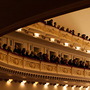 February 3, 2013 - New York, NY : The audience takes in a performance of Ludwig Van  Beethoven's Symphony No. 9 in D Minor, Op. 125 (1822-1824), by the West-Eastern Divan Orchestra (not pictured) at Carnegie Hall's Isaac Stern Auditorium / Ronald O. Perelman Stage on Sunday afternoon. CREDIT: Karsten Moran for The New York Times