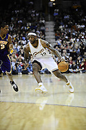 LeBron James of the Cleveland Cavaliers..The Cleveland Cavaliers defeated the visiting Los Angeles Lakers 94-90 at Quicken Loans Arena in Cleveland, December 20, 2007. LeBron James led the Cavs with 33 points while Kobe Bryant paced the Lakers with 21..
