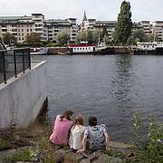 Stockholm, Sweden, August 2012. Hammarby Sjo.