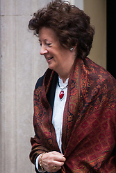 London, March 10th 2015. Ministers arrive at the weekly cabinet meeting at 10 Downing Street. PICTURED: Baroness Anelay, Minister of State at the Foreign & Commonwealth Office