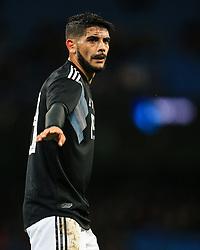 Ever Banega of Argentina gestures - Mandatory by-line: Matt McNulty/JMP - 23/03/2018 - FOOTBALL - Etihad Stadium - Manchester, England - Argentina v Italy - International Friendly