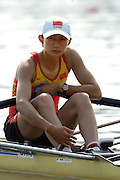 Poznan, POLAND.  2006, FISA, Rowing, World Cup, CHN  LW1X,  Hau  YU,  waits at  the start  pontoon morning for  her  semi  final.  'Malta Regatta course;  Poznan POLAND, Fri. 16.06.2006. © Peter Spurrier   ....[Mandatory Credit Peter Spurrier/ Intersport Images] Rowing Course:Malta Rowing Course, Poznan, POLAND