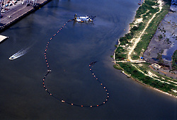 Aerial view of the ship channel.