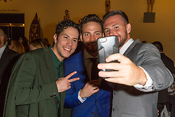 SANTA ANA, CA - OCT 10:  TV actor, singer and model Gabriel Coronel and former RBD Christian Chavez take a selfie with a fan during ParaTodos Magazine 20th Anniversary Gala at the Bower Museum on 10th of October, 2015 in Santa Ana, California. Byline, credit, TV usage, web usage or linkback must read SILVEXPHOTO.COM. Failure to byline correctly will incur double the agreed fee. Tel: +1 714 504 6870.