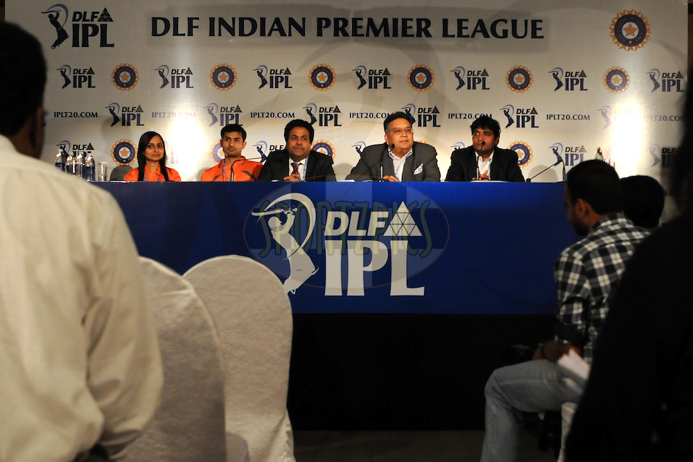Chirayu Amin chairman of IPL at a press conference during the 2011 IPL (Indian Premier League ) Player Auction held in Bengaluru, Bangalore, Karnataka, India on the 8th and 9th January 2011..Photo by Pal Pillai/BCCI/SPORTZPICS